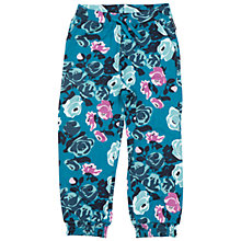 Buy Polarn O. Pyret Children's Floral Print Trousers, Blue Online at johnlewis.com