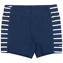 Buy Polarn O. Pyret Children's Stripe Swim Trunks, Blue Online at johnlewis.com