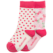Buy Polarn O. Pyret Children's Flower Dot Socks, Pack of 2 Online at johnlewis.com