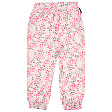 Buy Polarn O. Pyret Children's Floral Print Trousers, Pink Online at johnlewis.com
