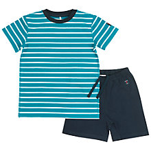 Buy Polarn O. Pyret Children's Short Pyjama Set, Blue Online at johnlewis.com
