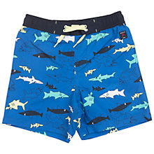 Buy Polarn O. Pyret Children's Shark Swim Shorts, Blue Online at johnlewis.com