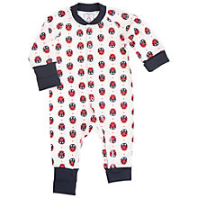 Buy Polarn O. Pyret Baby Ladybird Sleepsuit, Red Online at johnlewis.com