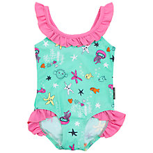 Buy Polarn O. Pyret Baby Underwater Print Swimsuit, Green Online at johnlewis.com