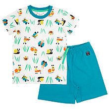 Buy Polarn O. Pyret Children's Garden Print Pyjamas, Blue Online at johnlewis.com