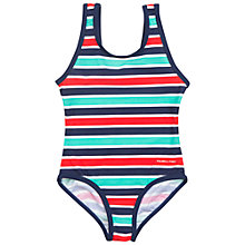 Buy Polarn O. Pyret Children's Stripe Swimsuit, Blue Online at johnlewis.com