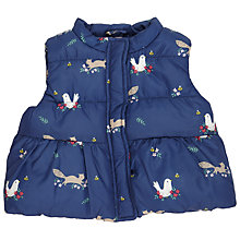 Buy John Lewis Baby Woodland Animal Print Gilet, Navy Online at johnlewis.com