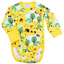 Buy Polarn O. Pyret Baby Garden Print Bodysuit Online at johnlewis.com