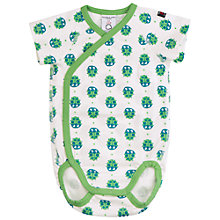 Buy Polarn O. Pyret Baby Ladybird Wraparound Bodysuit, White/Blue Online at johnlewis.com