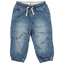 Buy Polarn O. Pyret Baby Denim Cargo Trousers, Blue Online at johnlewis.com