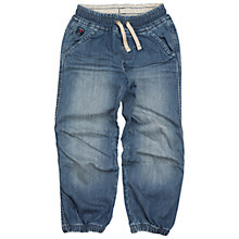 Buy Polarn O. Pyret Children's Denim Cargo Trousers, Blue Online at johnlewis.com