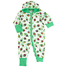 Buy Polarn O. Pyret Baby Ladybird Print Sleepsuit, Green Online at johnlewis.com