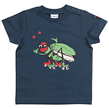 Buy Polarn O. Pyret Baby Insect T-Shirt, Blue Online at johnlewis.com