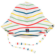 Buy Polarn O. Pyret Baby Stripe Hat, White Online at johnlewis.com