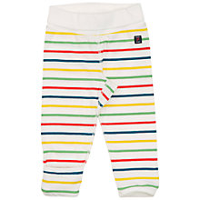 Buy Polarn O. Pyret Children's Stripe Trousers, White Online at johnlewis.com