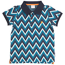 Buy Polarn O. Pyret Children's Zig-Zag Polo Shirt Online at johnlewis.com