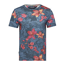 Buy Tommy Hilfiger Norman Floral Print T-shirt, Navy Blazer Online at johnlewis.com