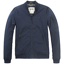 Buy Hilfiger Denim Bomber Jacket, Black Iris Online at johnlewis.com