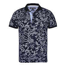 Buy Tommy Hilfiger Two Print Pattern Polo Shirt, Navy Blazer Online at johnlewis.com