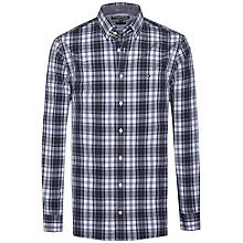 Buy Tommy Hilfiger Atlantic Check Shirt, Flint Stone/Black Iris Online at johnlewis.com