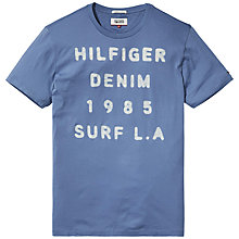 Buy Hilfiger Denim Jersey Crew Neck T-Shirt, Coronet Blue Online at johnlewis.com