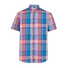 Buy Tommy Hilfiger O Connor Short Sleeve Shirt, Pink/Blue Online at johnlewis.com