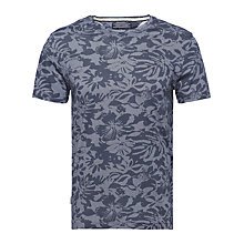 Buy Tommy Hilfiger Fran Floral Print T-shirt, Dutch Navy Online at johnlewis.com