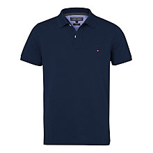 Buy Tommy Hilfiger Slim Fit Short Sleeve Polo Shirt, Black Iris Online at johnlewis.com