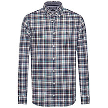 Buy Tommy Hilfiger Eton Check Shirt, Black Iris/Lake Blue Online at johnlewis.com