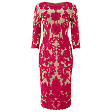Buy Phase Eight Patricia Tapework Dress, Magenta/Nude Online at johnlewis.com
