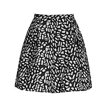 Buy Reiss Fray Jacquard Mini Skirt, Black/White Online at johnlewis.com