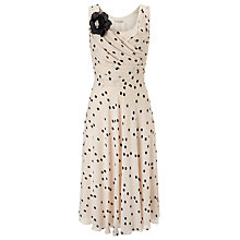 Buy Jacques Vert Spot Print Dress, Cream Online at johnlewis.com
