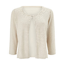 Buy Jacques Vert Spot Embellished Cover Up, Cream Online at johnlewis.com
