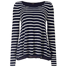 Buy Phase Eight Cali-Anne Stripe Knit Top, Navy/White Online at johnlewis.com
