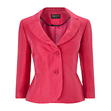 Buy Precis Petite Portrait Crinkle Jacket, Pink Online at johnlewis.com