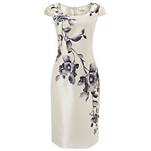 Buy Jacques Vert Placement Floral Print Shift Dress, Cream Online at johnlewis.com