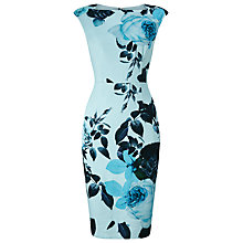Buy Phase Eight Chantay Rose Print Dress, Blue/Multi Online at johnlewis.com