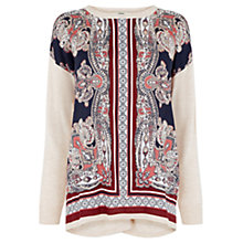 Buy Oasis Dakota Print Jumper, Neutral Online at johnlewis.com