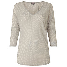 Buy Phase Eight Spot Burnout Top, Silver Online at johnlewis.com