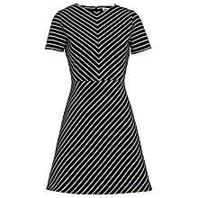 Buy Whistles Stripe Flora Jersey Dress, Multicolour Online at johnlewis.com