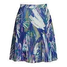 Buy Reiss Nettle Pleated Skirt, Multi Blue Online at johnlewis.com
