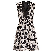 Buy Reiss Cate Printed Dress, Neutral/Black Online at johnlewis.com