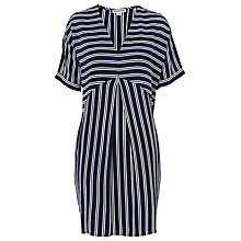 Buy Whistles Cut About Stripe Josie Dress, Navy Online at johnlewis.com