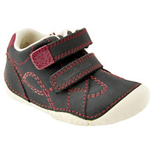 Buy Start-rite Children's Double Riptape Leather Shoes, Navy Online at johnlewis.com