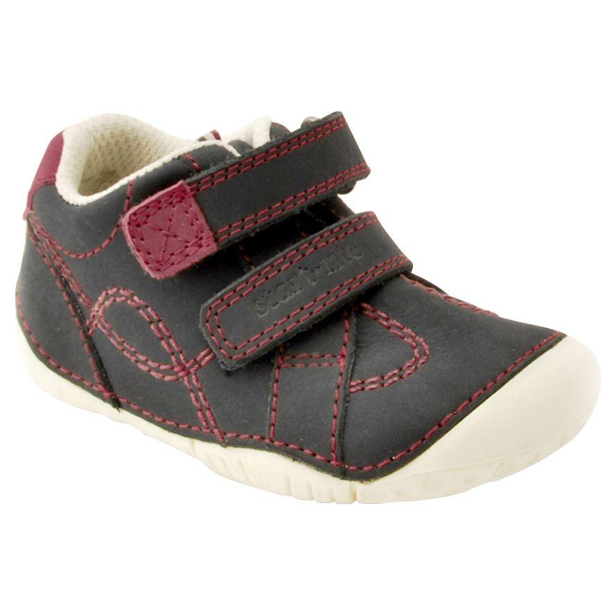 Start-Rite Start-rite Children's Double Riptape Leather Shoes, Navy
