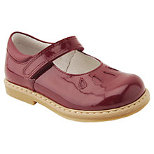Buy Start-rite Children's Tamara Leather Riptape Shoes, Wine Online at johnlewis.com