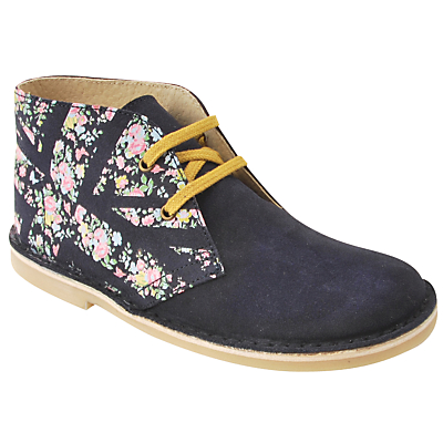 Product photo of Startrite children s colorado leather floral lace boots navy floral