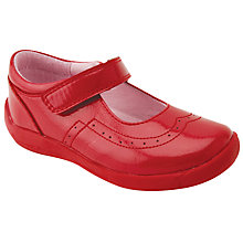 Buy Start-rite Children's Soft Alice Riptape Shoe, Red Patent Online at johnlewis.com