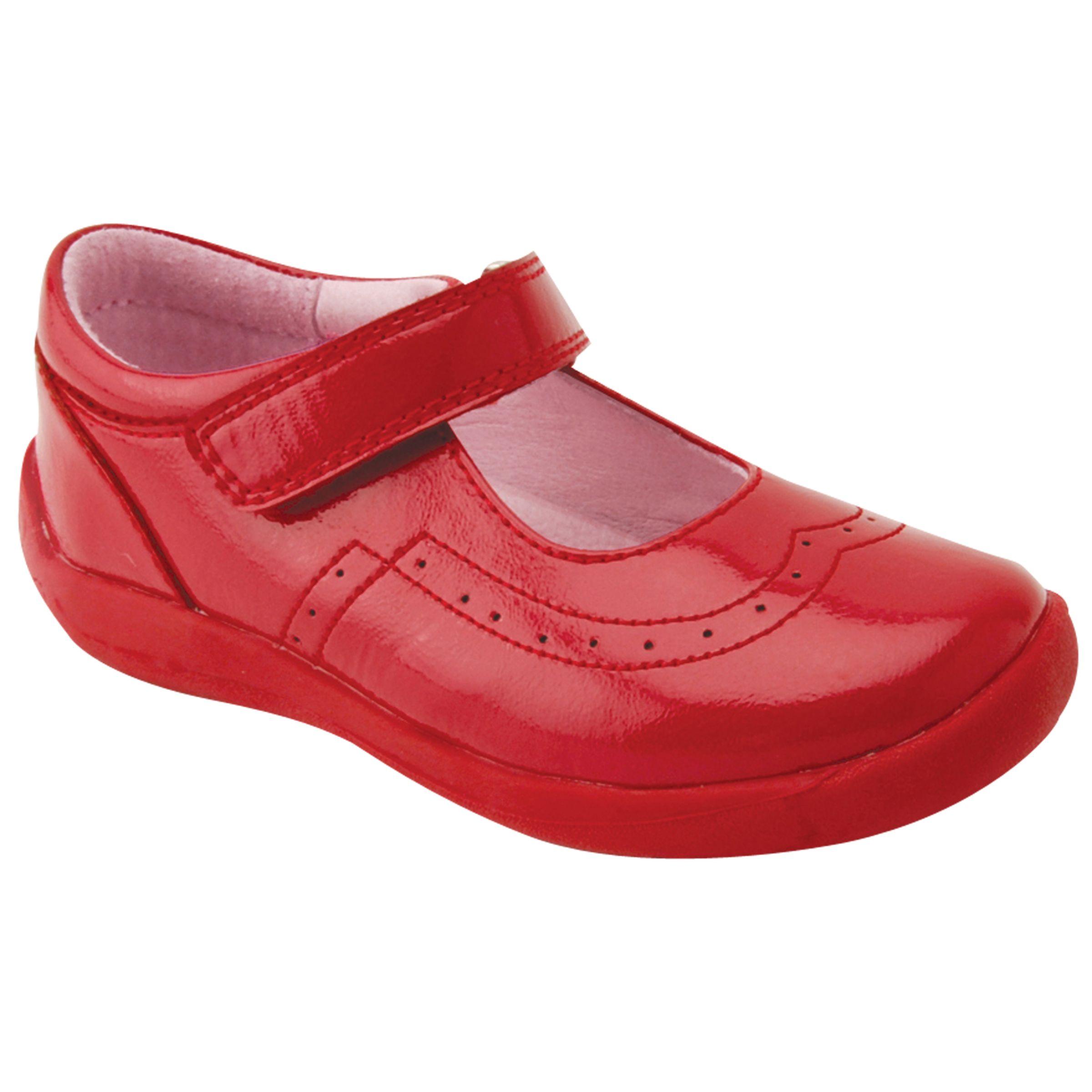 Start-Rite Start-rite Children's Soft Alice Riptape Shoe, Red Patent