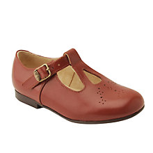 Buy Start-rite Children's Sandalette Leather Buckle Shoes, Chestnut Online at johnlewis.com